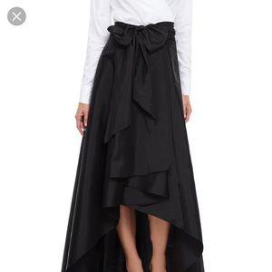 Never worn black Adrianna papell hi low skirt
